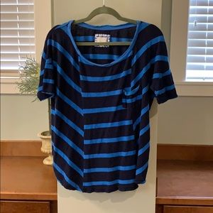 Anthropologie blue striped shirt